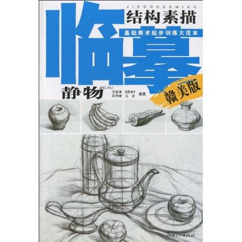 静物-结构素描-临摹基础美术起步训练大范本-赣美版