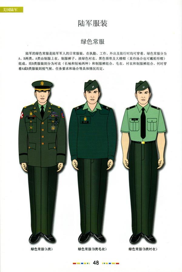 世界军事  美军军衔军装服饰图鉴  第一章:美军总部 第二章 美国陆军