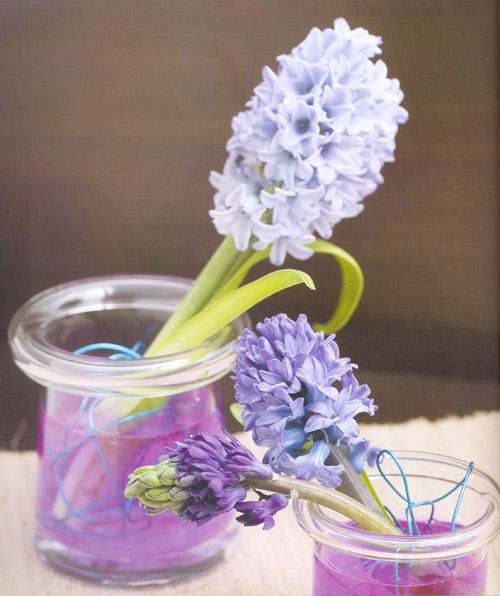 形状奇特的花瓶插花