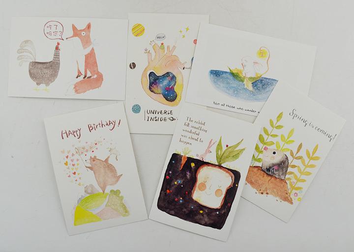 中图明信片:小王子/动物奇趣(图案随机发货)(特惠品):(三套图案随机