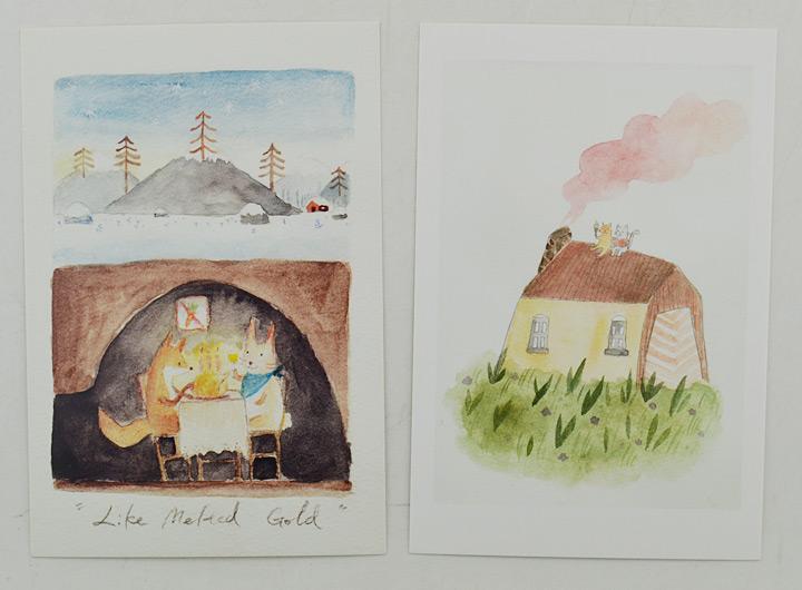 中图手绘明信片:动物奇趣2(6张/套)