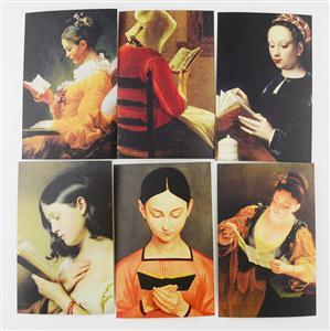 中图明信片:阅读的女人系列二(6张)