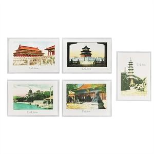 北京老照片藏书票  5张套